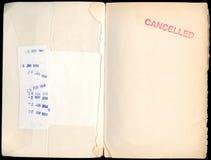 Était par le passé un livre de bibliothèque photos stock