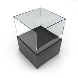 Étalage en verre noir vide illustration libre de droits