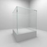 Étalage en verre vide Images libres de droits