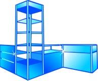 Étalage et armoires. illustration de vecteur