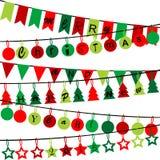 Étamine décorative avec le Joyeux Noël et la bonne année 2015 illustration libre de droits