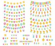 Étamine de Pâques et ensemble de décoration Images libres de droits