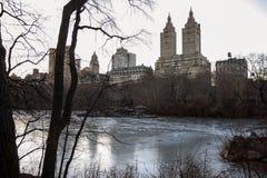 Étang à New York Photo stock