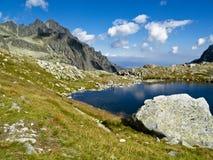 Étang bleu de montagne Image libre de droits
