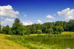 Étang d'été Photographie stock libre de droits