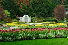 Étang d'étoile dans des jardins de butchart Image libre de droits