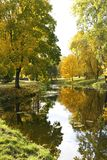 Étang d'automne. Images stock