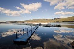 Étang dans le barrage Dospat Photo libre de droits