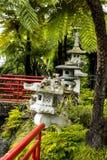 Étang dans un beau jardin chez Monte au-dessus de Funchal Madère Image libre de droits