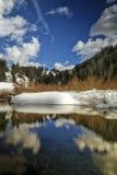Étang de castor d'horaire d'hiver photos libres de droits