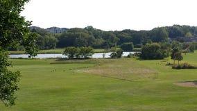 Étang de golf Photographie stock libre de droits