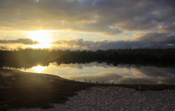 Étang de lever de soleil Images libres de droits