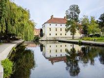 Étang de moulin dans Tapolca, Hongrie Images stock