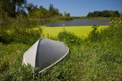 étang de mousse de bateau Photos libres de droits