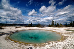 Étang de stationnement national de Yellowstone image libre de droits