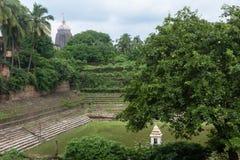 Étang de temple de Jagannath Puri Images libres de droits