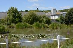 Étang de village chez Rottingdean sussex l'angleterre photo libre de droits