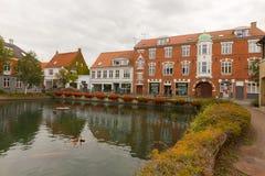 Étang de ville de Svendborg image libre de droits