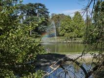 Étang du parc floral photo stock