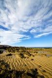 Étang et été de musc de littoral de plage de nuage de pas Image libre de droits