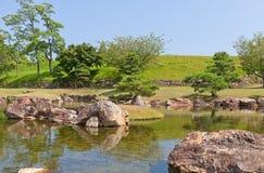 Étang et jardin d'Ako Castle, ville d'Ako, Japon Photo libre de droits