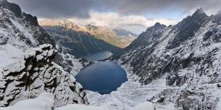 Étang Marine Eye de noir de parc national de Tatra Photo libre de droits