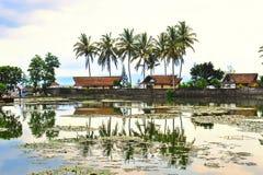 Étang scénique dans Bali Images libres de droits