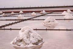 Étang Taïwan d'évaporation de sel Photo libre de droits