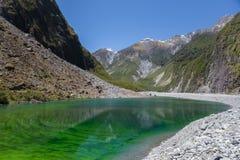 Étang vert près de glacier de Fox, Nouvelle-Zélande Images stock
