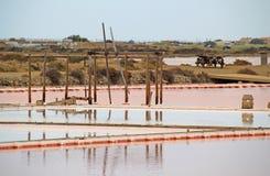 Étangs de sel dans Gruissan, France images libres de droits