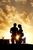 Étant dans l'amour Image libre de droits
