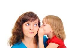 Étant un ami avec un enfant Image libre de droits
