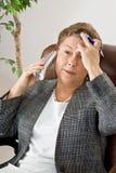 Étape 2 de mal de tête : Premier élancement de douleur Images stock