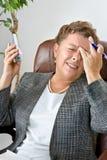 Étape 4 de mal de tête : Mal de tête de division Images libres de droits