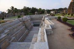 Étape bien, temple de Mahadeva, Itgi, état de Karnataka, Inde Images libres de droits