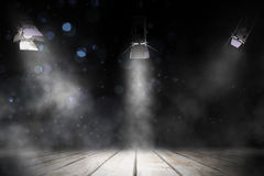 Étape d'éclairage de trois projecteurs Image libre de droits
