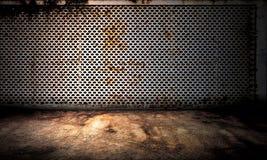 Étape d'intérieur de fond en métal Images libres de droits