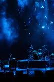 Étape dans la lumière bleue Photographie stock