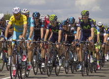 Étape 3 de Chris Froome Yellow Jersey Tour De France 2014 Images libres de droits