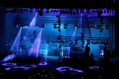 Étape de concert Photo libre de droits