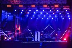 Étape de concert Photographie stock