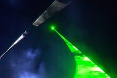 Étape de concert de nuit de feu vert Photo libre de droits