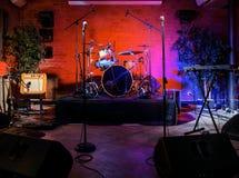 Étape de concert de rock Photos stock