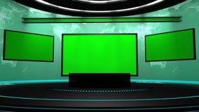 étape de la télévision 3d Images stock