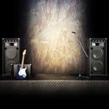 Étape de métaux lourds de musique Image stock