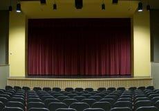 Étape de salle de cinéma photographie stock libre de droits