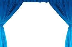 Étape de théâtre avec le rideau bleu photo stock