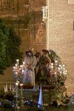 Étape du mystère de la fraternité de l'amertume, semaine sainte en Séville Photo stock