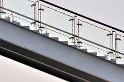 Étape en métal composée par forme et ligne Photos stock