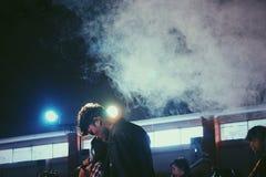 Étape fumée images stock
